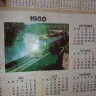 "1980 Frisco Railroad Calendar - Approximately 26"" xz 20"""