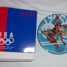 "Avon 1996 Team USA Commemorative Plate 5"" Porcelain trimmed in 22K Gold."