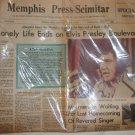 Memphis Press Scimitar August 17. 1977 Special Edition. Elvis Presley life ends