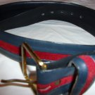 Harness House Steerhide belt- Black and Maroon Size 38