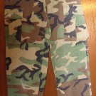 BDU's Woodland Camo  Pants- x Small- short  (# 22)