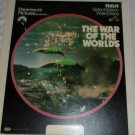 The War of the worlds-  Presented by Paramount Pictures  -SelectaVision Video Disc