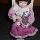 Avon Childhood Dreams Porcelain Doll Collection-  Kitty Love
