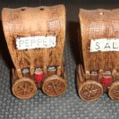 Vintage  Western Stage Coach Salt and Pepper Shakers