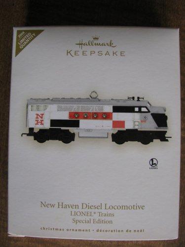 2008 New Haven Diesel Locomotive Lionel Trains Hallmark Keepsake Ornament