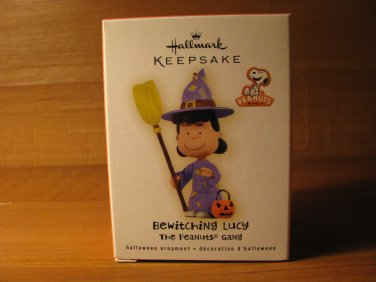 New 2009 Bewitching Lucy Peanuts Hallmark Keepsake Halloween Ornament