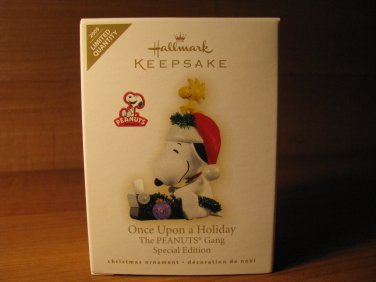 2009 Once Upon a Holiday Peanuts Snoopy Hallmark Ornament