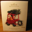2008 Bringing Home the Tree Mickey & Pluto Hallmark Ornament