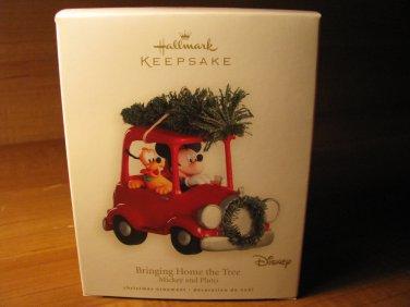 2008 Bringing Home the Tree Mickey & Pluto Hallmark Ornament