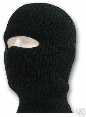 1 HOLE BLACK BALACLAVA KNIT SKI FACE MASK SHIELD HOOD