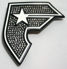 NEW FAMOUS STARS STRAPS BELT BUCKLES BOH BLACK WHITE