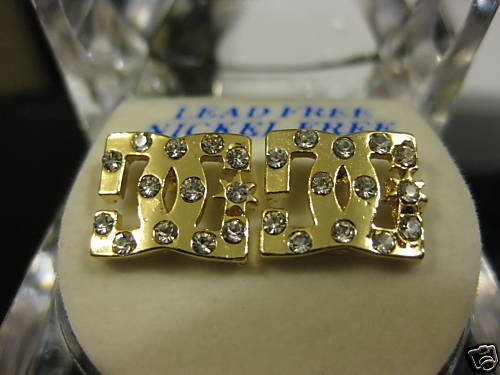 Diamond DC Shoes Logo GOLD STUD EARRINGS NEW JEWELRY Company