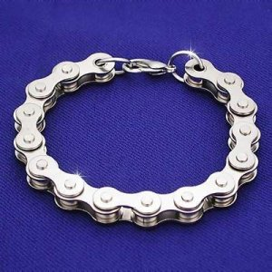 MEN MOTORCYCLE BICYCLE BIKER SILVER CHAIN BRACELET NEW
