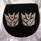 NEW TRANSFORMERS DECEPTICON AUTOBOTS SILVER STUD EARRINGS