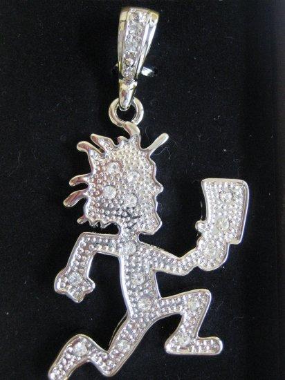 silver hatchetman hatchet juggalo pendant charm