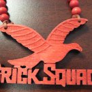 RED BRICK SQUAD SOULJA BOY WOOD PENDANT PIECE NECKLACE NEW