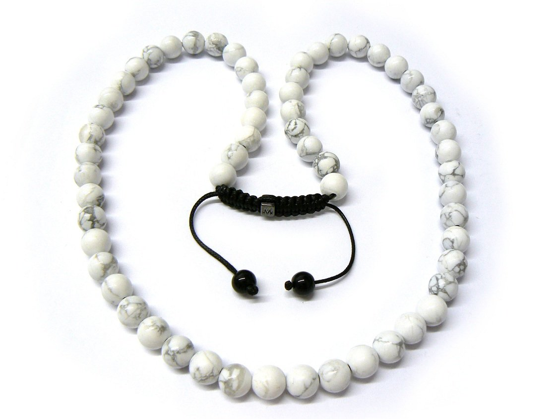 Marble Stone Jewelry : Quot white marble stone beads shamballa necklace mc