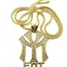 New York Entertainment NY ENT Gold Necklace Pendant P597G