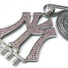 New York Entertainment NY ENT Silver Necklace Pendant P597R-PK