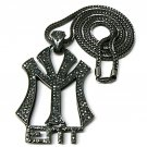 New York Entertainment NY ENT Black Necklace Pendant P597HE