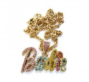 Nicki Minaj Barbie Small Necklace Pendant - Gold Color MZ34G-M