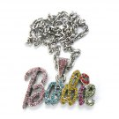 Nicki Minaj Barbie Small Necklace Pendant - Silver Color MZ34R-M