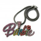 Nicki Minaj Barbie Necklace Pendant - Black Color MP655H-M