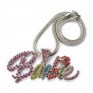 Nicki Minaj Barbie Necklace Pendant - Silver Color MP655R-M