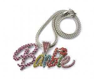 Nicki Minaj Barbie Necklace Pendant - Silver Color MP655R-M