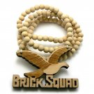 Natural Wood Brick Squad Necklace Pendant Soulja Boy WJ15NL