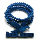Blue Wood Brick Squad Necklace Pendant Soulja Boy WJ15BL