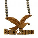 Brown Wood Brick Squad Necklace Pendant Soulja Boy WJ15BN