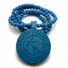 Blue Wood World Is Yours Scarface Necklace Pendant WJ18BL