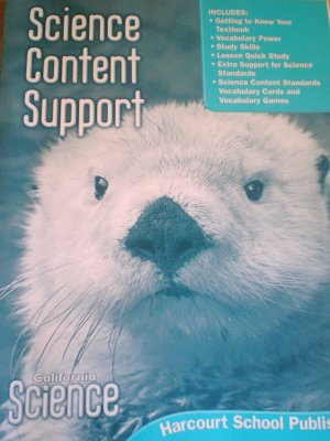 Harcourt Science Content Support Grade 1 (2007) California