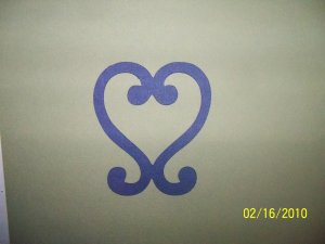 Decrative heart frame die cut
