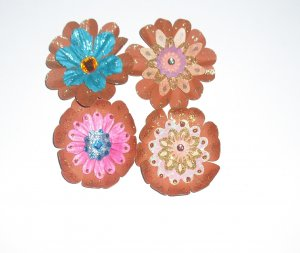 flowers hand made 4 per set