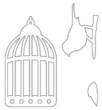 3 sets bird cage and bird