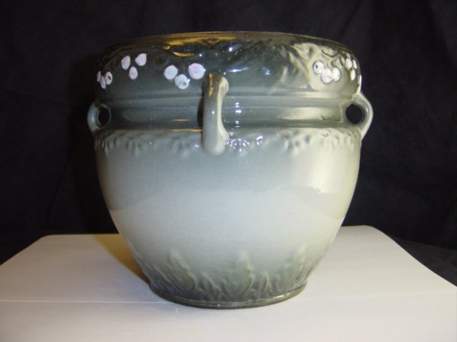 WELLER Jardiniere Grey Green Tones Berries Weller Pot