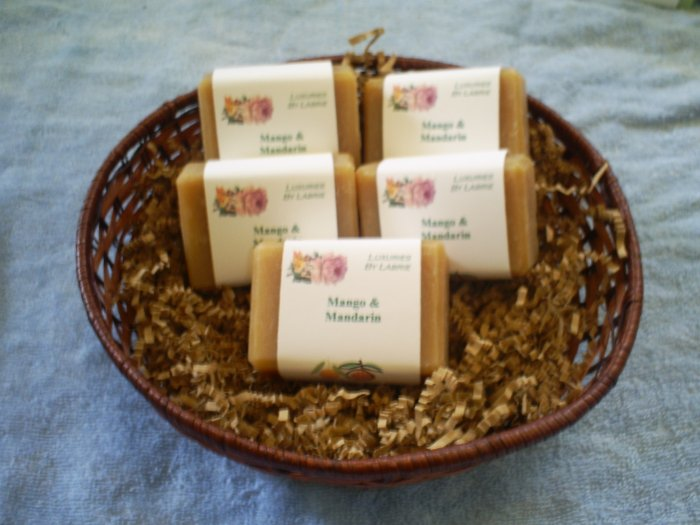Handmade Mango & Mandarin Cold Processed Soap
