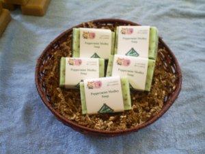 Handmade Peppermint Medley essential oil soap