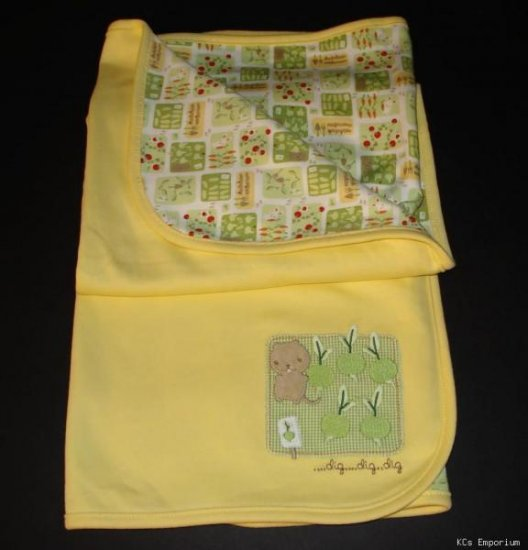 NWT Gymboree DOES YOUR GARDEN GROW Reversible Blanket