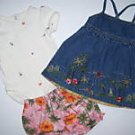 3 Pieces Gymboree LITTLE HULA GIRL Top Dress Bloomers 3 6