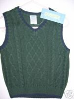 NWT Gymboree HOLIDAY Green Sweater Vest 6-12 m