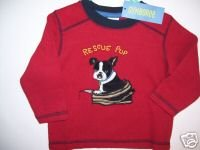 NWT Gymboree FIREHOUSE HOUNDS Rescue Pup Top 12-18 m