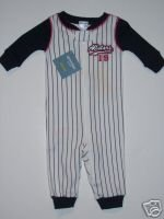 NWT Gymboree Gymmies Sports All Star Baseball PJ 0-3 m