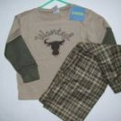 NWT Gymboree Wanted Cowboy Gymmies Pajamas 3 3T