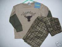 NWT Gymboree Wanted Cowboy Gymmies Pajamas 3 3T