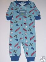 NWT Gymboree SLEEPWEAR Baseball Gymmies 0-3 m