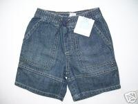 NWT Janie and Jack Summer Classics jean shorts 18 24 mo