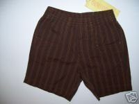 NWT Gymboree FIESTA FIESTA Brown Stripe Shorts 3-6 m